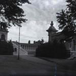 Arenele Romane fotografiate din Parcul Carol
