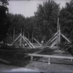 Pavilion în construcție