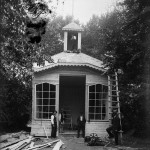 Pavilionul Bonboneriei Palatului în construcție