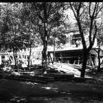 Pavilionul Bucovinei într-un stadiu avansat de construcție