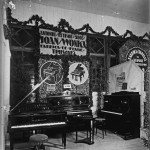 "Standul ""Fabrica de piane Antoniu, Petrof, Succ, Joan, Wonka"" din Timișoara. Pavilion Banat"